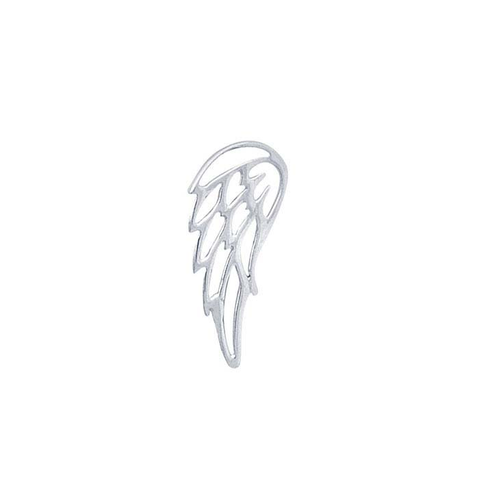 Sterling Silver Angel Wing Component for Floating Glass Lockets