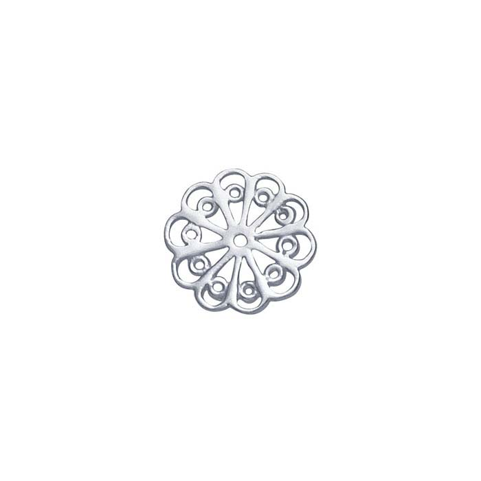 Sterling Silver Round Filigree Component