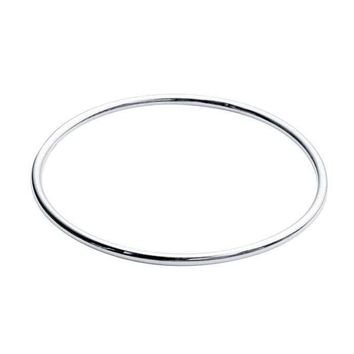 Sterling Silver Tube Bangle Bracelet