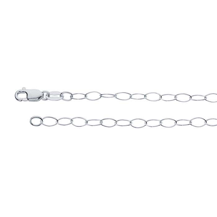 Sterling Silver Oval Cable Chains