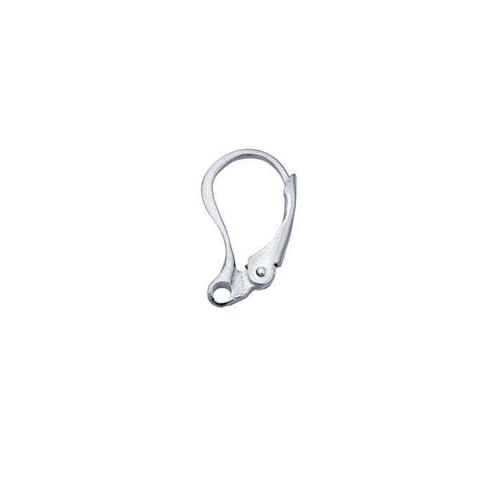 Sterling Silver Lever-Back Ear Wire with Closed Ring