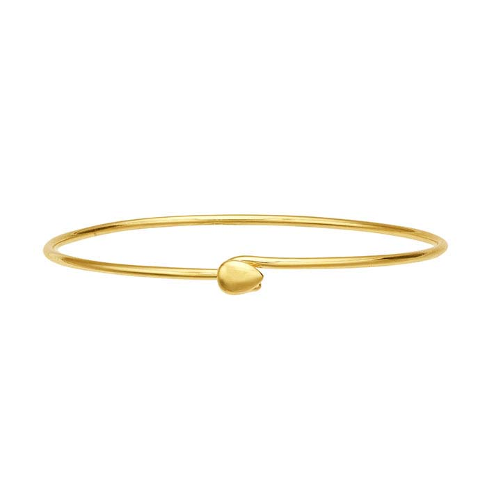 Sterling Silver Yellow Gold-Plated Bangle Bracelet