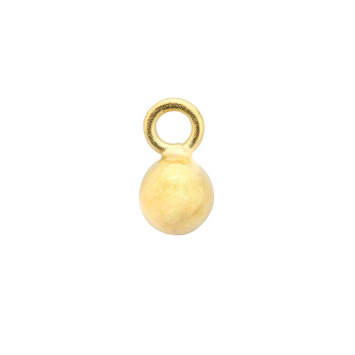 24K Heavy Yellow Gold-Plated Sterling Silver Ball Component