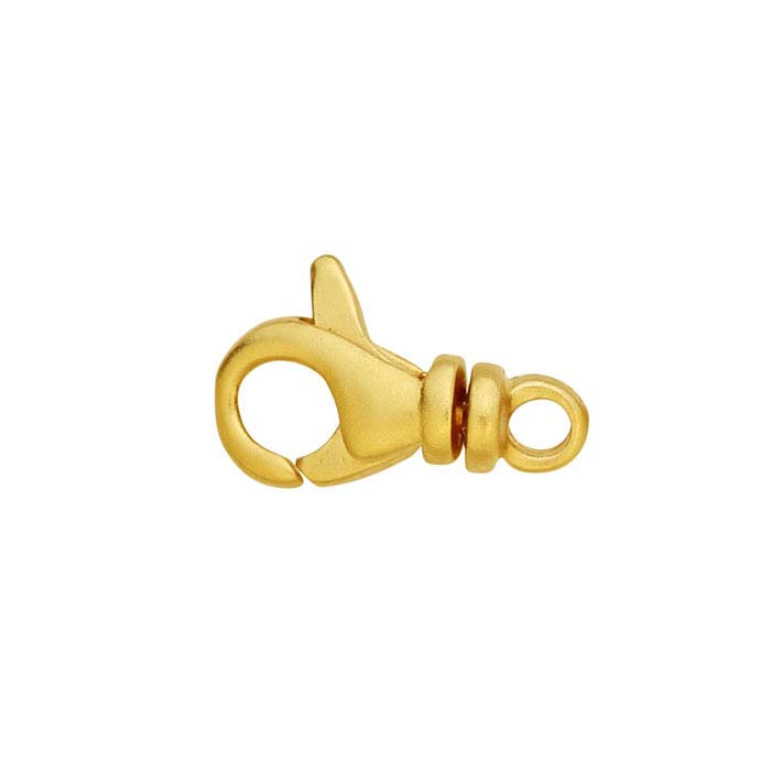 24K Heavy Yellow Gold-Plated Sterling Silver Swivel Lobster Clasp