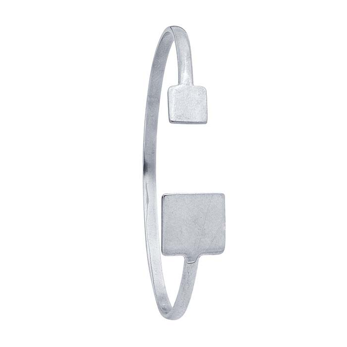 Sterling Silver Double Square Cuff Bracelet