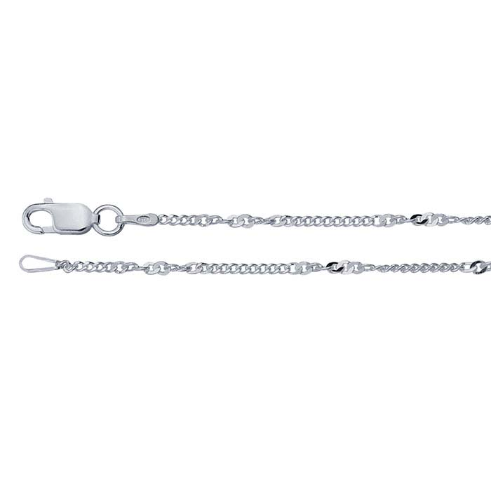 Sterling Silver Twist Curb Chains