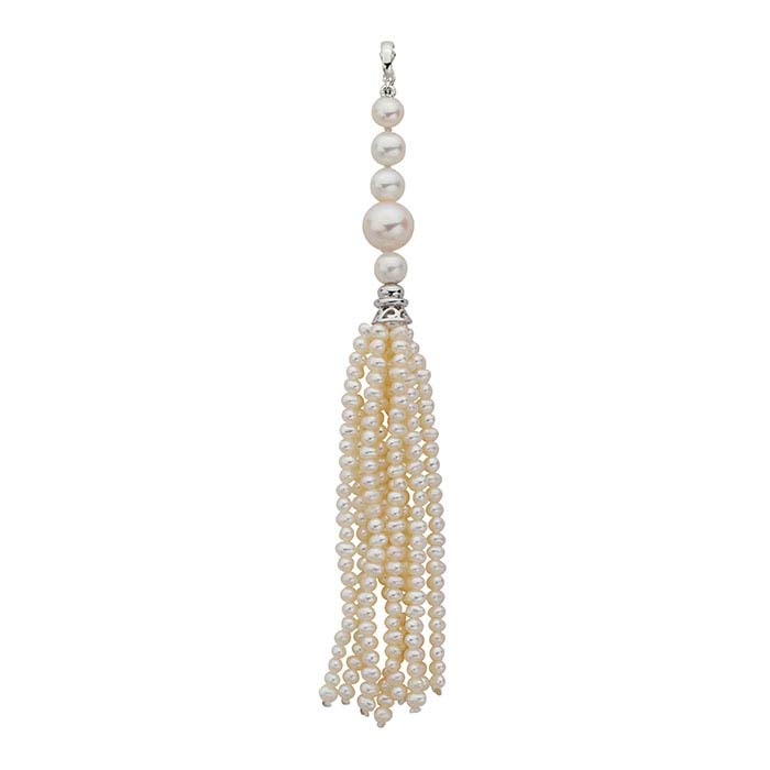 Sterling Silver and Freshwater Cultured Pearl Tassel Component