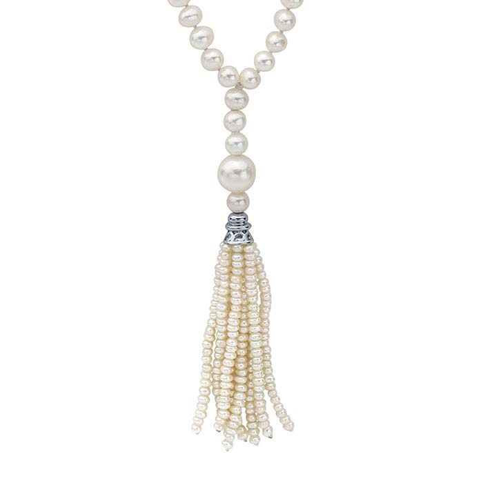White Freshwater Pearl Y-Style Necklace