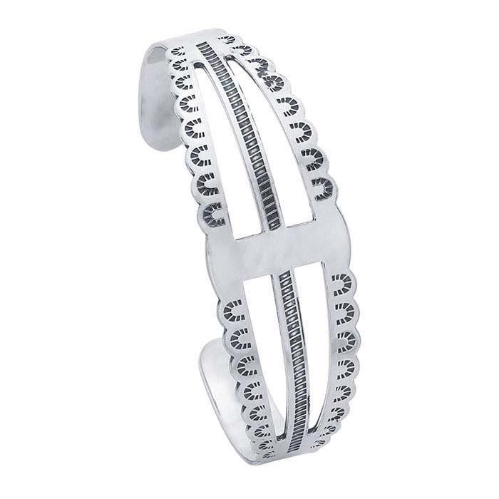 Sterling Silver Stamped Cuff Bracelet Blank