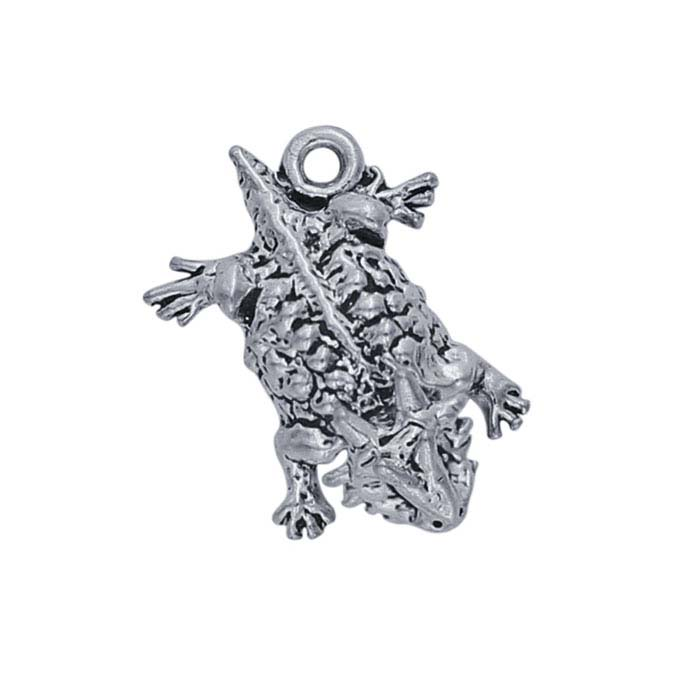 Sterling Silver Horned Lizard Charm