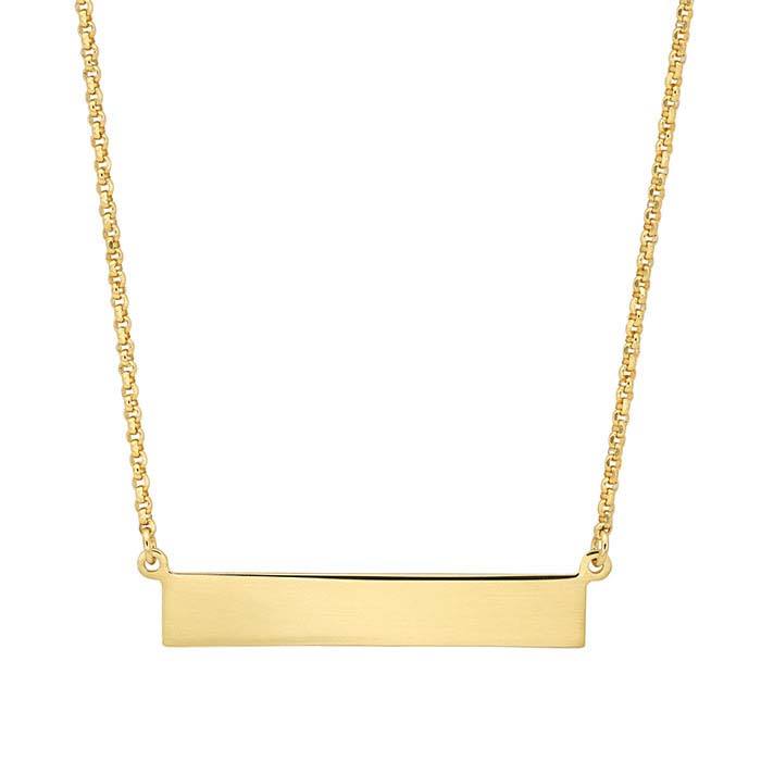 Sterling Silver Yellow Gold-Plated Rectangle Festoon Necklace