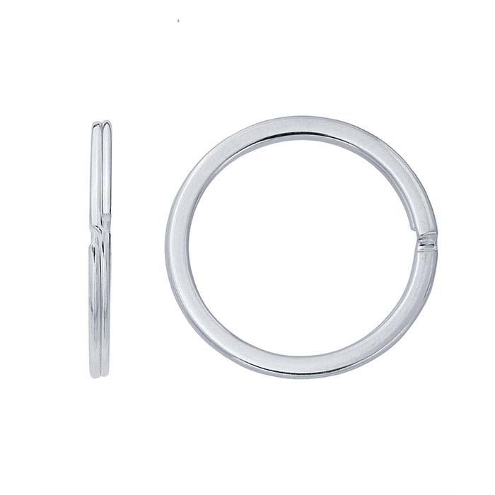 Sterling Silver Flat-Wire Split Key Ring