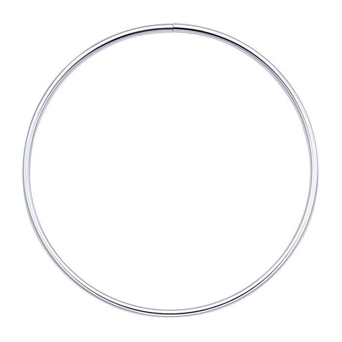 Sterling Silver 4mm Flex Tube Neck Ring