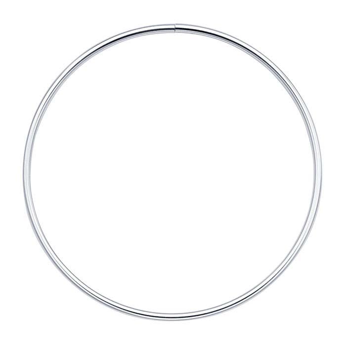 Sterling Silver 4mm Flex Tube Neck Ring