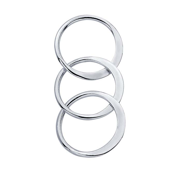 Sterling Silver Triple-Circle Component