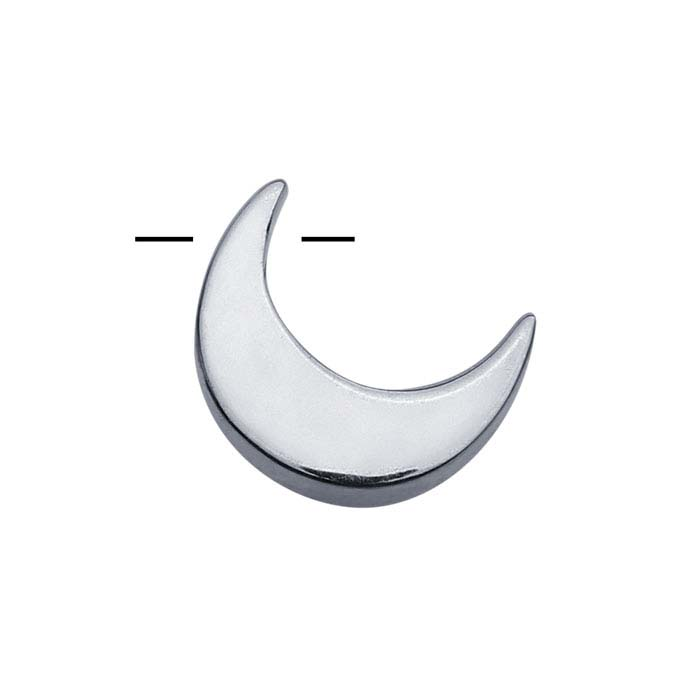 Sterling Silver Crescent Moon Beads