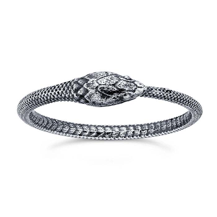 Sterling Silver Ouroboros Snake Rings