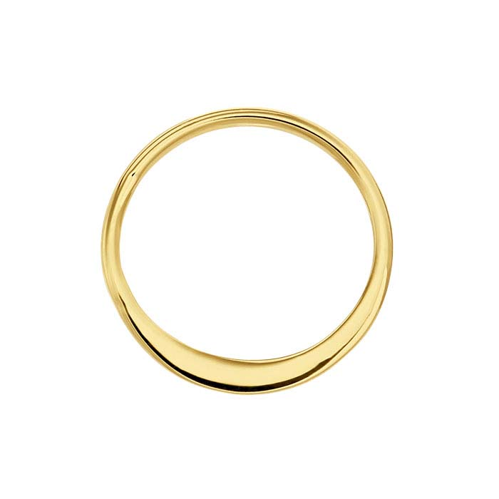 14K Heavy Yellow Gold-Plated Sterling Silver Round Components
