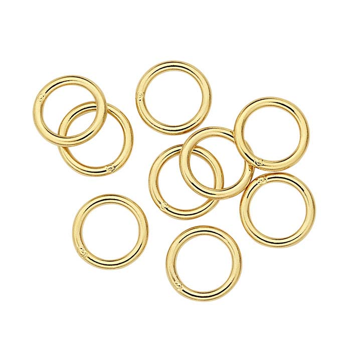14K Heavy Yellow Gold-Plated Sterling Silver 5mm Round Jump Ring