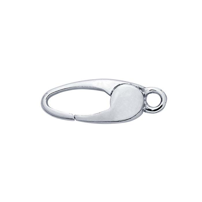Sterling Silver Oval Push Clasp
