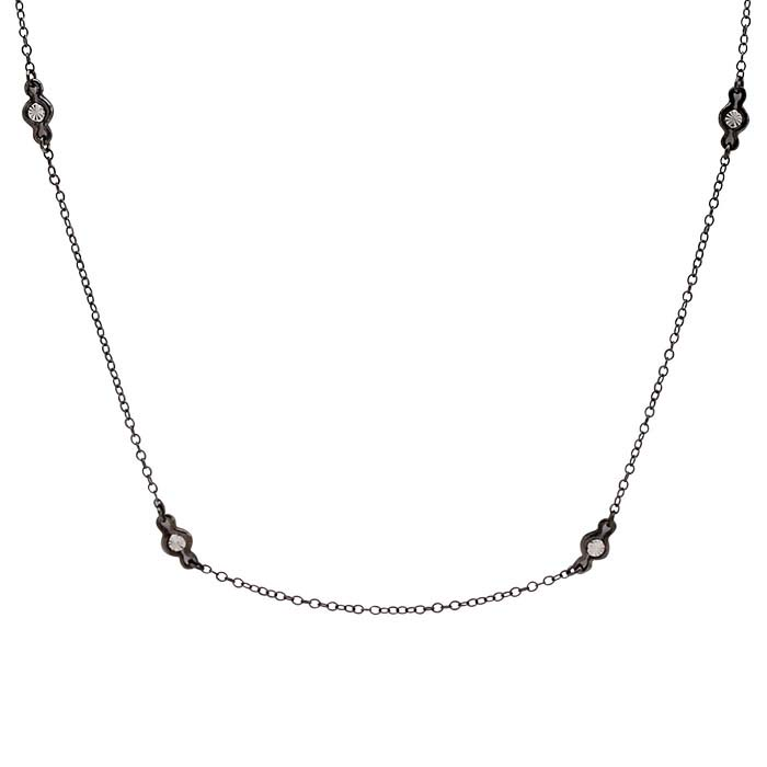 Sterling Silver Black Rhodium-Plated Tin-Cup Necklaces