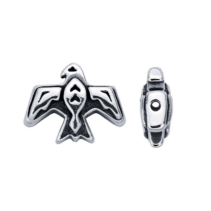 Sterling Silver 9.5 x 12mm Thunderbird Fetish Bead