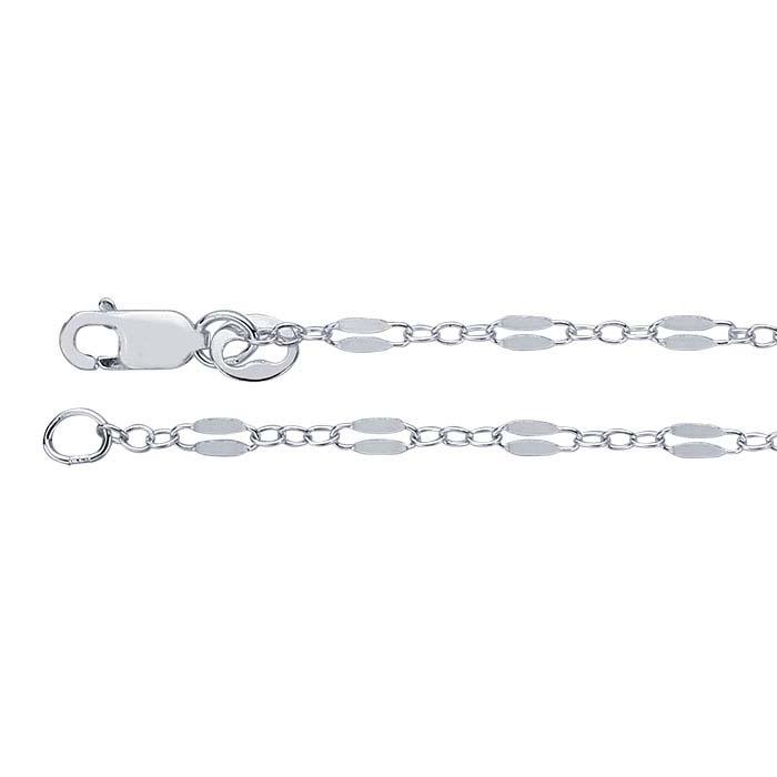 Argentium® Silver Dapped Long & Short Chains