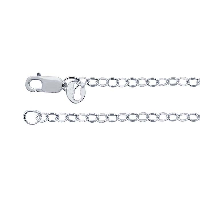 Argentium® Silver Dapped Oval Cable Chains