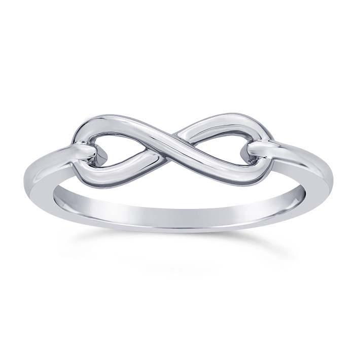 Sterling Silver Infinity Link Rings