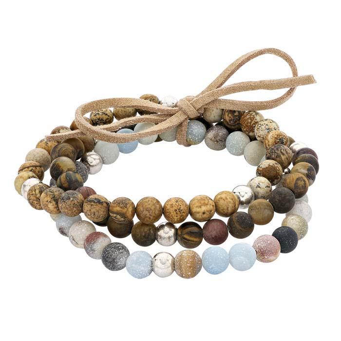 Agate Bead Stretch Bracelet Assortment