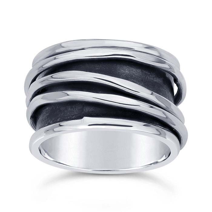 Sterling Silver Three-Wire Spinner Rings