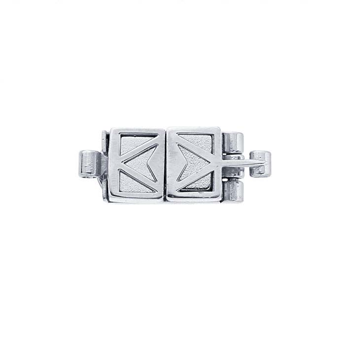 ClickSecure® Sterling Silver Rectangle Magnetic Clasp