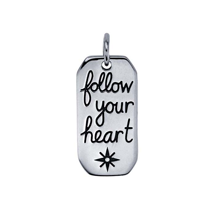 "Sterling Silver ""Follow Your Heart"" Pendant"