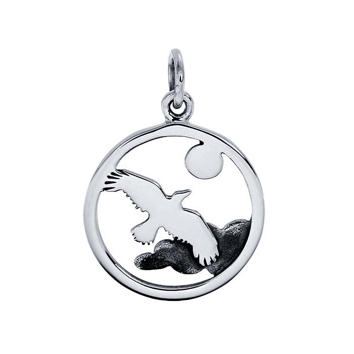 Sterling Silver Eagle-in-the-Clouds Charm