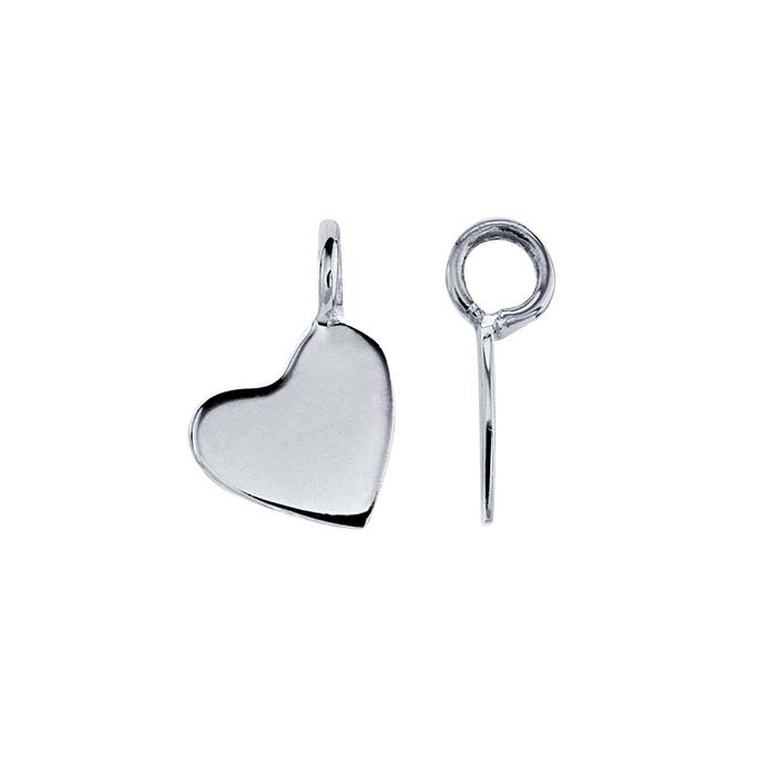 Sterling Silver Tiny Heart Component