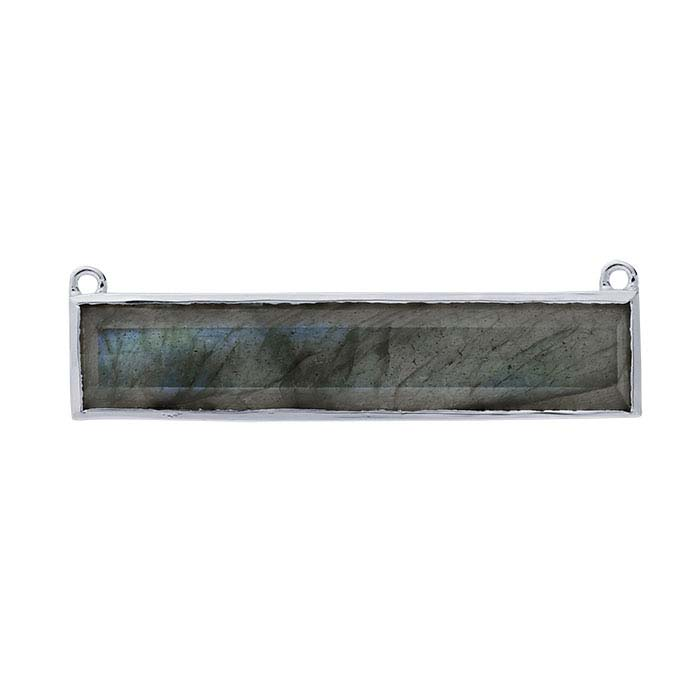 Sterling Silver Labradorite-Set Festoon Component