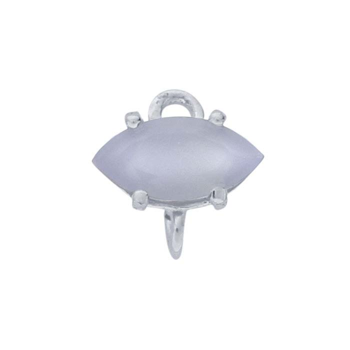 Sterling Silver Marquise Lavender Chalcedony-Set Component with Rings