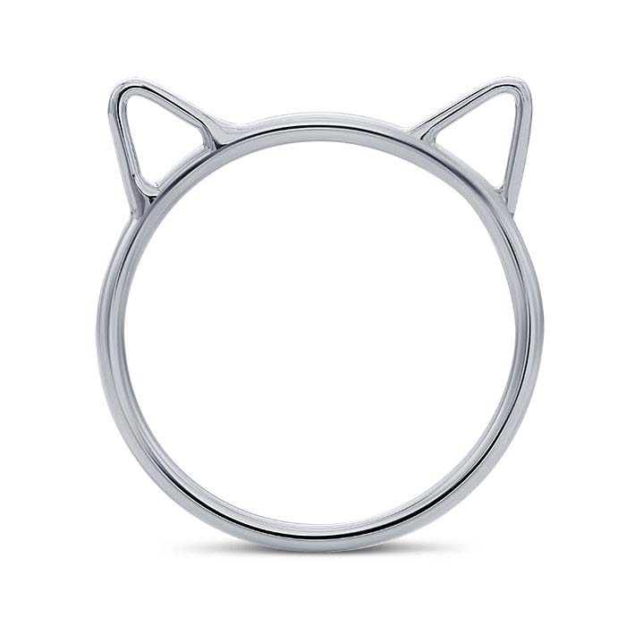 Sterling Silver Cat Ears Rings
