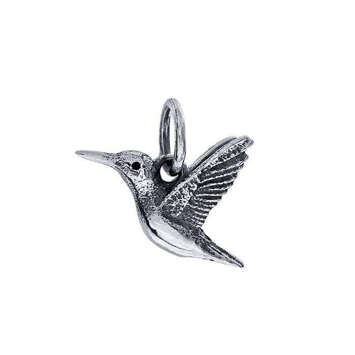 Sterling Silver 3D Hummingbird Charm