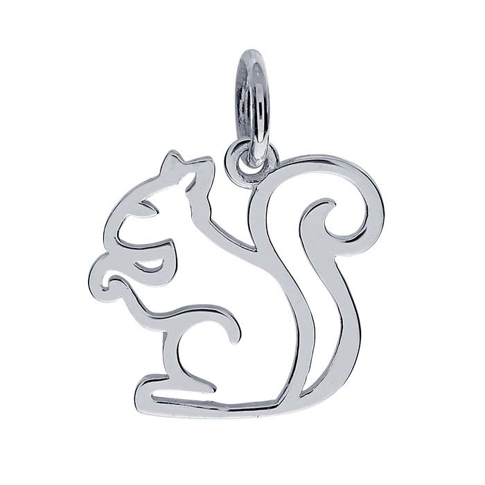 Sterling Silver Squirrel Charm