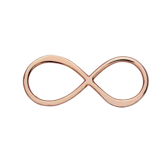 18K Heavy Rose Gold-Plated Infinity Link Component
