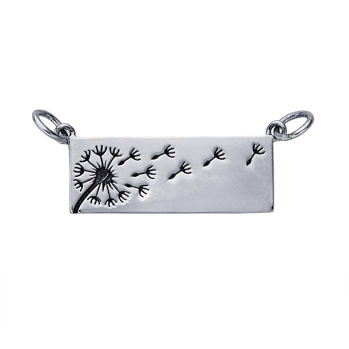 Sterling Silver Dandelion Festoon Pendant