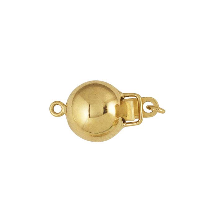 18K Yellow Gold Bead Safety Clasp