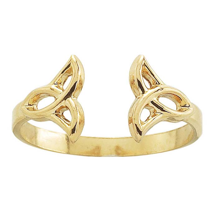 14K Yellow Gold Celtic Ring Shank