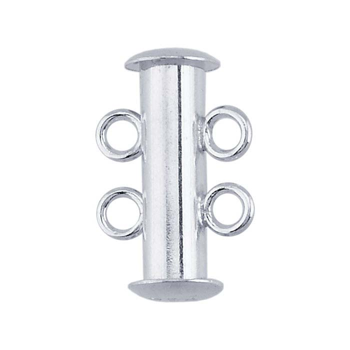 Sterling Silver Multi-Strand Tube Slide Clasps