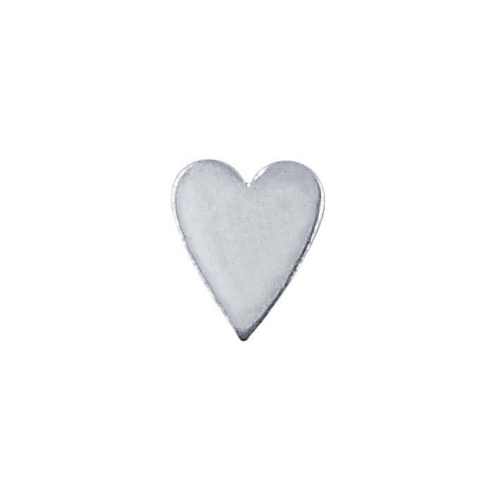 Sterling Silver Heart Stamping, 28-Ga.