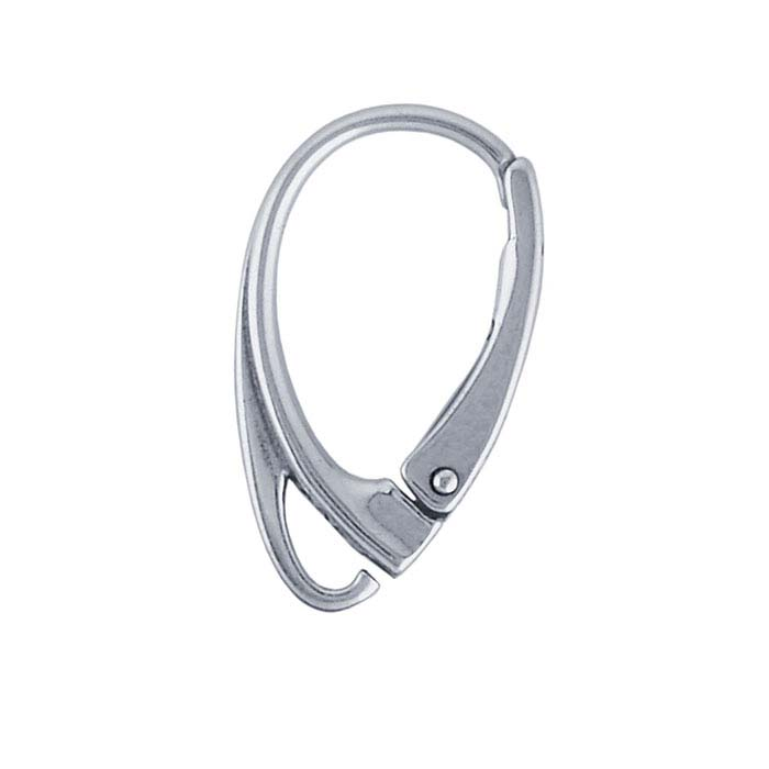 Sterling Silver Lever-Back Ear Wire with Loop