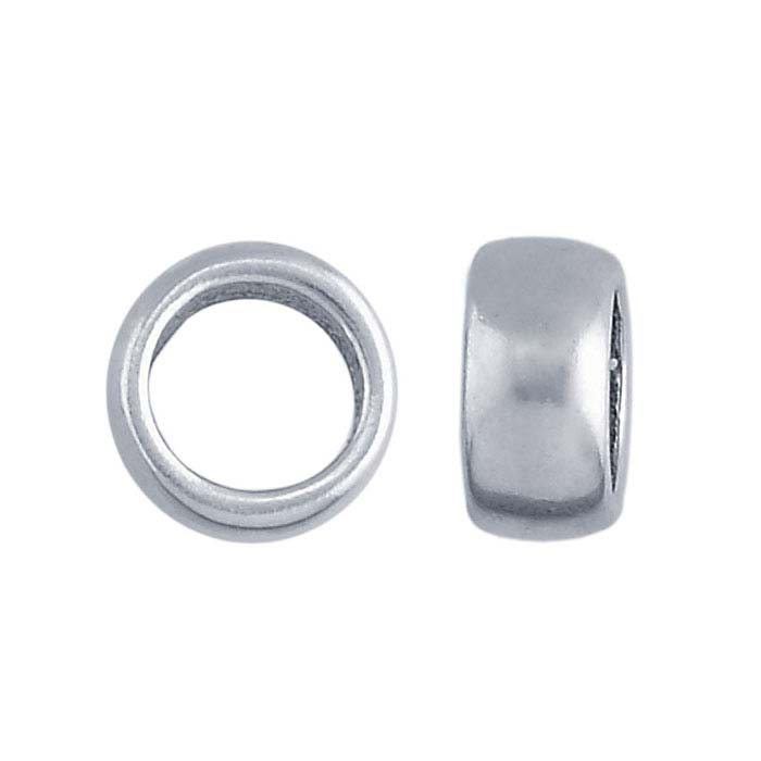 Sterling Silver 8.7 x 4.3mm Spacer Bead