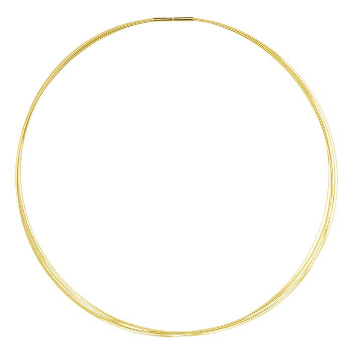 14K Yellow Gold 0.4mm 7-Strand Cable Neck Wire