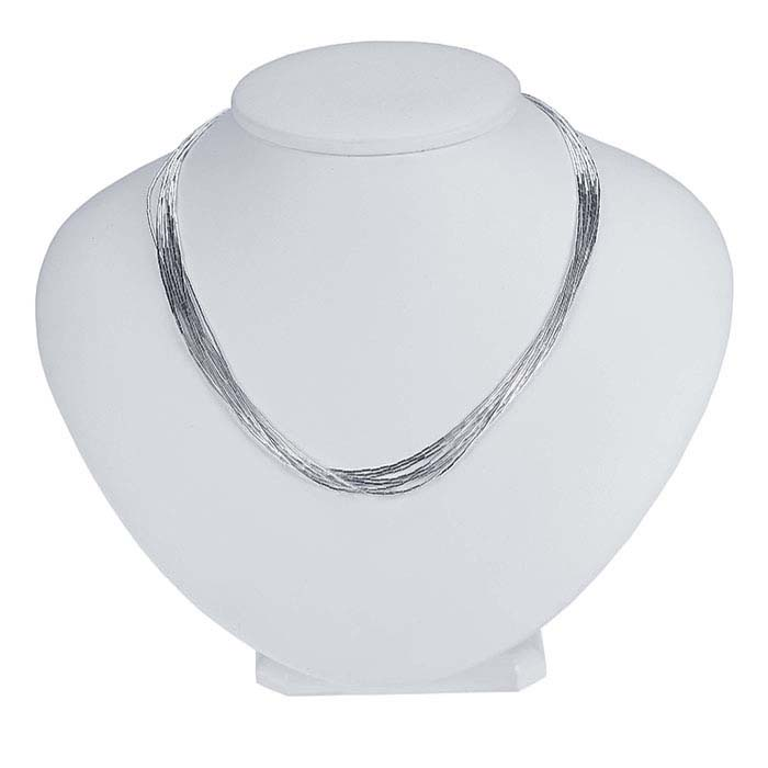 Sterling Silver Liquid Silver 10-Strand Necklace